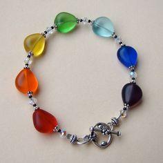 Rainbow Chakra Tears Bracelet