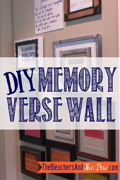 Do you want your family to memorize scripture, but you don't know how to make it stick? This simple DIY memory verse wall is the answer! Come see how...