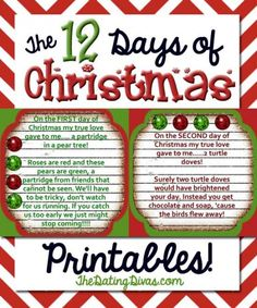 12 days of christmas family gift ideas