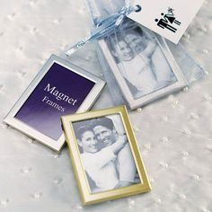 wedding magnet mini photo frame -Shop on WeddingWire! Unique Wedding Favors, Unique Weddings, Wedding Gifts, Wedding Ideas, Wedding Stuff, Wedding Table, Diy Wedding, Wedding Details, Wedding Inspiration