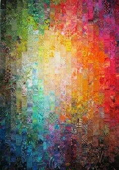 By Wanda S Hanson: colourwash quilt