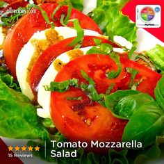 Tomato Mozzarella Salad from Allrecipes.com #myplate #dairy #veggies