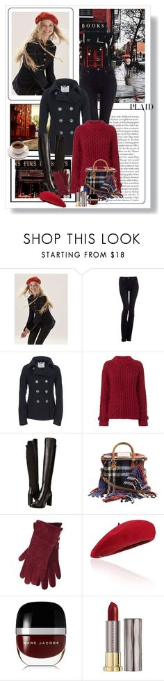 """""""Check It: Plaid"""" by dezaval ❤ liked on Polyvore featuring GET LOST, Free People, Paige Denim, Aéropostale, Eleven Six, Stuart Weitzman, Maison Margiela, M&Co, Marc Jacobs and Urban Decay"""