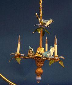 Bulb NEW * * Vintage Doll House Miniature Electric Lamp Chandelier DollHouse