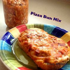 Pizza Bun Mix - A great convenient way to have a ready home made mix for when you have hungry tummies! Lovefoodies
