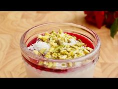Israeli Malabi Recipe - Rosewater Pudding With Pomegranate Syrup