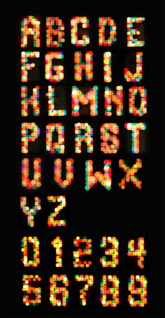 Like the idea of creating the letters from dots of color...resembling the light of the screen
