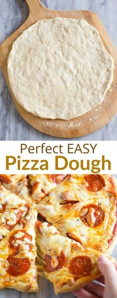 Easy Pizza Dough Recipe A step-by-step guide for making homemade Pizza Dough. This easy pizza dough recipe is quick and inexpensive and adaptable for thin or thick crust pizza! Thin Crust Pizza, Pizza Pizza, Dough Pizza, Pizza Dough Recipes, Flat Bread Dough Recipe, Pizza Hut Crust, Easy Pizza Dough Recipe, Vegan Pizza, Whole Wheat Pizza