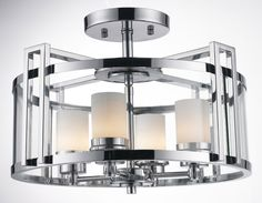 3 RING ROUND CLEAR GLASS WITH INNER :: FLUSH & SEMI-FLUSH FIXTURES :: Ceiling lights Toronto, Bath and vanity lighting, Chandelier lighting, Outdoor lighting and kitchen lights :: Union