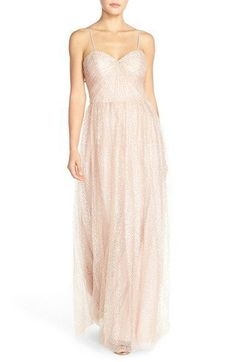 NEW WATTERS 9364 Luster Pink Betts Sequin Tulle Strapless Wedding Dress Gown 14