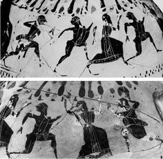 Tyrrhenian amphora painting with black figures, 570-560 BC, Hamburg Museum Fur Kunst Und Gerwerbe. https://hemmahoshilde.wordpress.com/2016/01/13/niobe-pottery/  <--- You are welcome to read more about Niobe on my blog :).