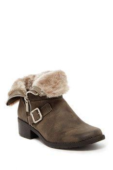 Anne Klein Lyvia Faux Fur Trim Boot