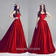 2016 New arrival Long Puffy Prom Dresses Red Ball Gown Evening Dress Vestido De Festa Longo Vermelho Strapless Gowns-in Prom Dresses from Weddings & Events on Aliexpress.com | Alibaba Group