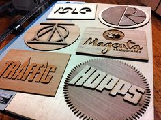 Laser Cut and Engraved Wooden Signs
