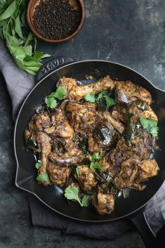 Pepper-Curry Leaves Chicken Curry |foodfashionparty|
