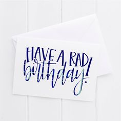 Happy Birthday Hand lettered Card, print, typography gift, holiday present, bedroom home decor quote, card, mom sister friend dad brother by thelemontreehouse on Etsy https://www.etsy.com/listing/527568983/happy-birthday-hand-lettered-card-print