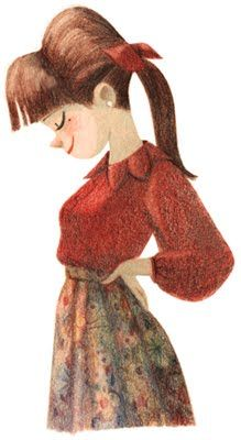 I ♥ Nadinoo by Genevieve Godbout rose-a-petits-pois (Oh my god! Her illustrations are so cute!)