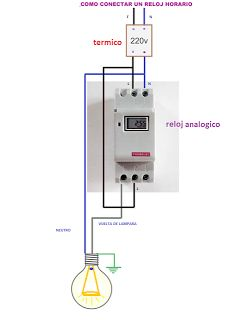 Esquemas eléctricos: reloj analogico conexion Electrical Installation, Electrical Wiring, Electrical Engineering, Electrical Circuit Diagram, House Wiring, Electronic Parts, Power Strip, Solar Panels, Inventions