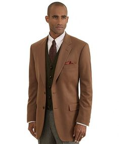 b291dfa6e85 Madison Fit Two-Button Cashmere Sport Coat Vicuna (Brooks Brothers) Sharp  Dressed Man
