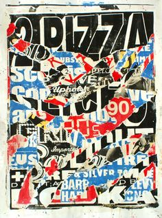 "nevver: ""Ripped to shreds, Charlie Anderson "" Pop Art Images, Collage Art, Newspaper Collage, Paper Collages, Magazine Art, Design Art, Graphic Design, Typography Design, Typography Poster"