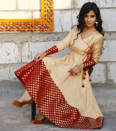 Latest Angrakha Style Dresses Designs 2015-2016 Collection for Women | StylesGap.com