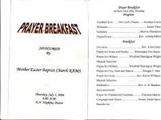Planning A WomenS Prayer Breakfast  Prayer Breakfast