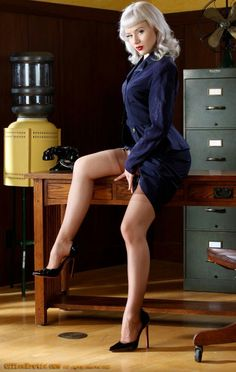 glam doll mosh in high heels and nylons takes off her bra