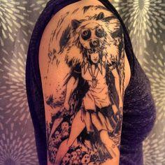 Princess Mononoke done by Paolino @ Rising Dragon Tattoo in NYC