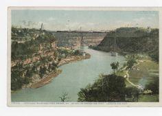 Kentucky River and High Bridge, KY. Travel destinations :: Ronald Morgan Postcard Collection