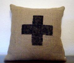 Coffee Sack Pillow Cover  by Brin and Nohl. I want to make this!