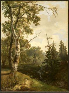 Johannes Warnardus Bilders, Forest Scene Near Wolfheze. 1890