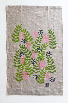 Tea Towel of the Month: January | Jen Hewett, printmaker, surface designer, textile artist