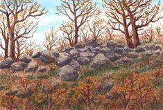 Minimax.cz - umělecký server pro všechny autory - CESTOU NA VRCH ROVNÝ Watercolor Landscape, Rocks, Pastel, Trees, Paintings, Drawings, Plants, Art, Art Background