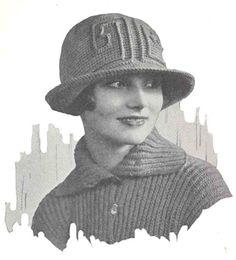 1920s Vintage Flapper Crochet Hat Pattern PDF by 2olddivas on Etsy, $4.00
