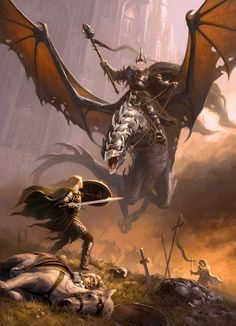 Éowyn versus Nazgûl. One of the greatest moments in the story. Perhaps the best.