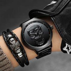 Luxury Stainless Steel Skull Watch | Skullflow    https://www.skullflow.com/collections/skull-watches/products/luxury-stainless-steel-skull-watch