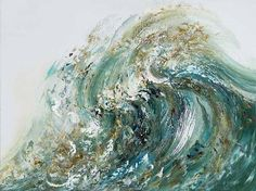 Maggi Hambling, Summer Wave Tossing Sand -- I would buy a copy of this (could never afford the original) if I could figure out where to get it. Most beautiful piece of art ever.