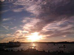 sunset on island Vir, Croatia
