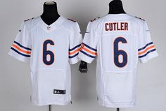 Men's Nike NFL Chicago Bears #6 Jay Cutler White Jersey.  If interested in them, pleases E-mail bettyjerseycheap@gmail.com