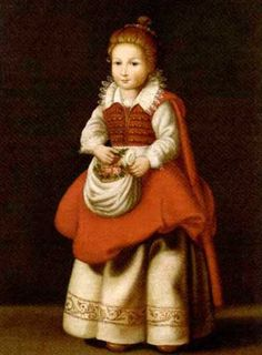 Portrait of a young girl with flowers in her apron by Cornelis de Vos