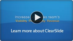 ClearSlide Demo Video:: Upload your slides, keynote or powerpoint and video. Publish to any webpage.
