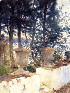 John Singer Sargent: Corfu, The Terrace, 1909.