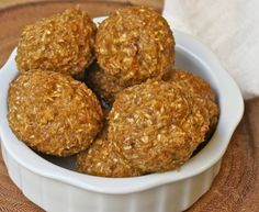 Pumpkin Protein Balls lets face it I have sooo many protein balls of wonder recipes and it's my fav snack to pop in my mouth before and after the gym. I'm going to try these with oatmeal and coconut as my base then add pumpkin and other harvest ingredients. Going to try to leave out peanut butter or maybe use macadamia nuts for a totally different spin ~Felicia