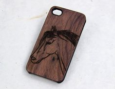 Wood iPhone 5 horse Case natural wood iphone 6 case by LovinaCases
