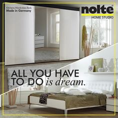 Nolte Bedroom Wardrobes · A Simple, Plush Sonyo Bed Assures Sweet Dreams.  And A Complementing Samia Wardrobe In