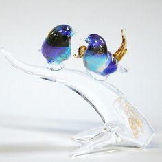 Blue Birds Murano Glass