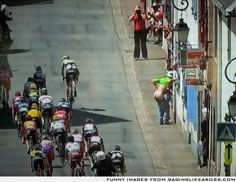 So I'm watching the Tour de France and this happened live...