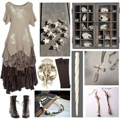 Bone Witch by maggiehemlock on Polyvore featuring Miharayasuhiro, Cooper by Trelise, Sophia Kokosalaki and Max Studio