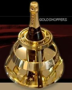 Original Golden Champagne Holder for Yacht owners,  so as not to spill a drop of Champagne anymore,Every one  is unique ,  price from $12,500  ,available for purchase,  upon request ,mail for details  art nr: 27122012-4