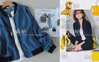 Flavor brief casual color block decoration denim jacket outerwear 2013 new autumn,